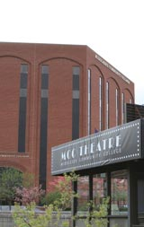 MCC Theater in the Lowell Campus Merrimack Bldg., across the canal from City Bldg.