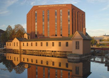 Lowell City Building and Lower Locks Canal