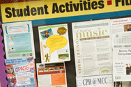 Student Activities notice board