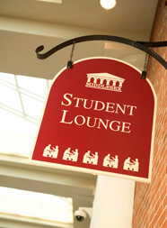 Photo of Bedford Student Lounge Sign