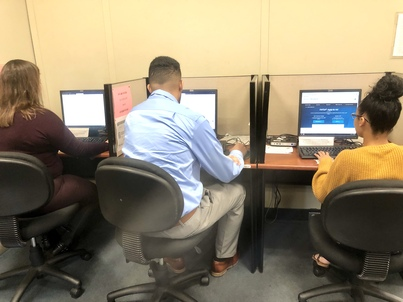 Completing FAFSA applications in the Lowell Office