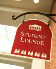 Bedford Student Lounge Sign
