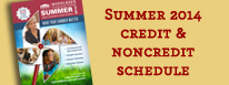 Credit Course Schedule