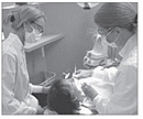 Photo of students in the Dental Clinic