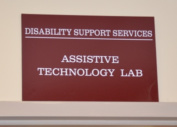picture of sign for DSS Assistive Technology Lab