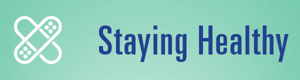 Staying Healthy Button