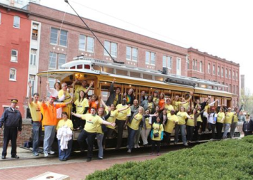 Photo of Students on Trolley
