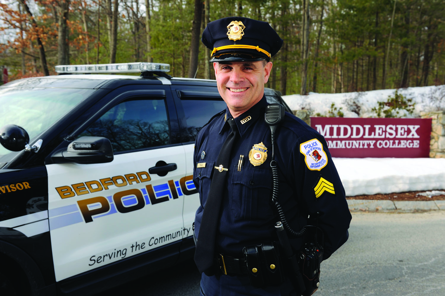 Sgt. Patrick Towle of the Bedford Police Department will recieve MCC's 2014 Distinguished Alumni Award.