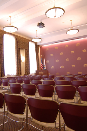 Photo of assembly room in Federal Building