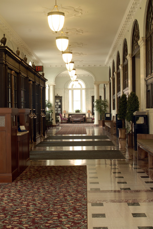 Photo of front lobby in Federal Building