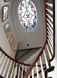 Photo of stairwell at Nesmith House