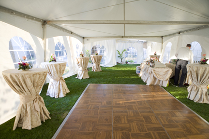 Photo of tables under tent