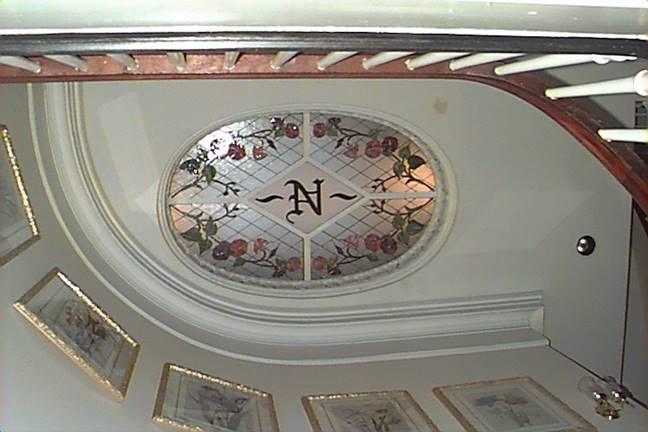 Photo of the skylight in the Nesmith House
