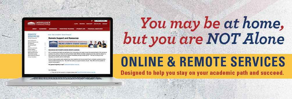 Online & Remote Student Services designed to help you stay on your academic path and succeed.