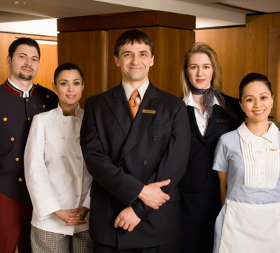 Photo of hotel travel and culinary employees
