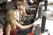 Photo of Students Working at Computers