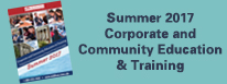 Summer 2017 Corporate and Community Education and Training