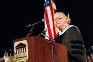 MCC President Carole Cowan Addressing Graduates