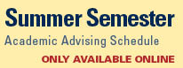 Summer Credit Semester Schedule