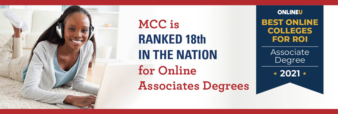 MCC Named As a 2021 Best Online Associate Degrees for Investment