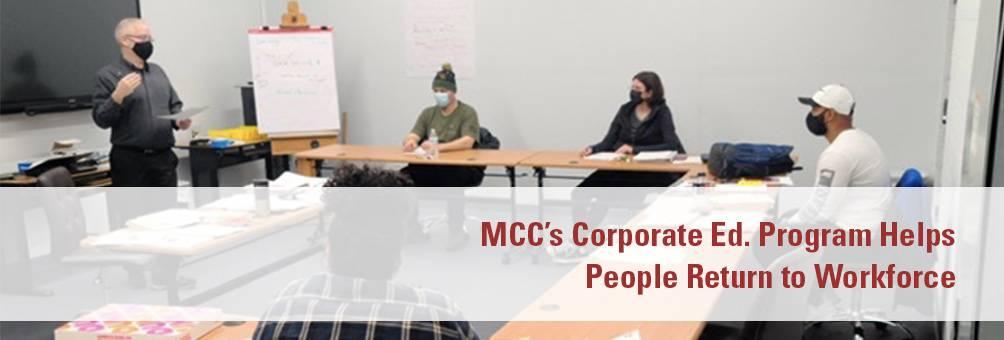 MCC's Corporate Ed. Program Helps People Return to Workforce