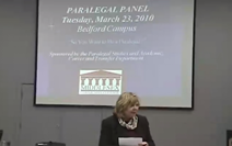 2010 Paralegal Studies Panel Presentation
