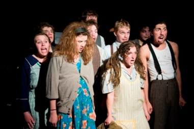 Photo of cast in Urinetown