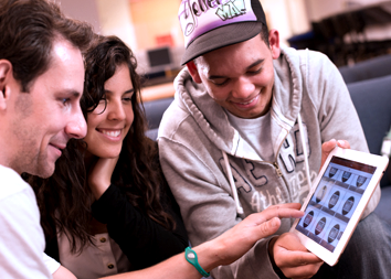MCC students using the MCC Mobile app