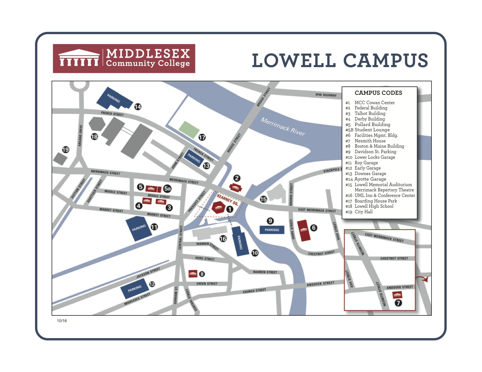 Lowell Campus Map