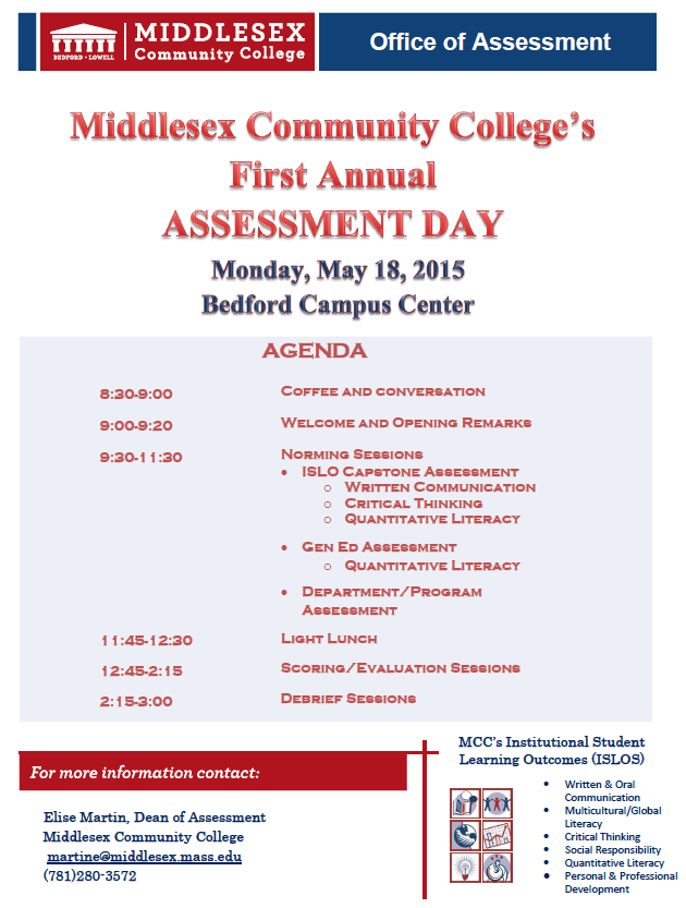 Assessment Day Agenda