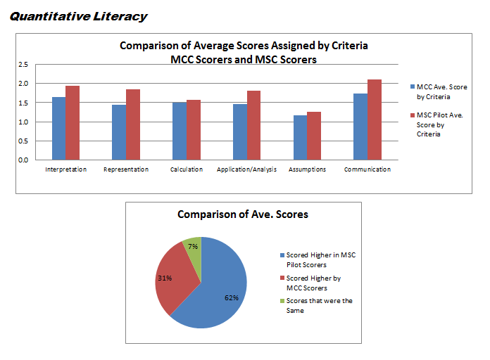 Quantitative Literacy Assessment Results