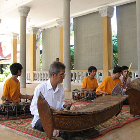 People playing music in Cambodia